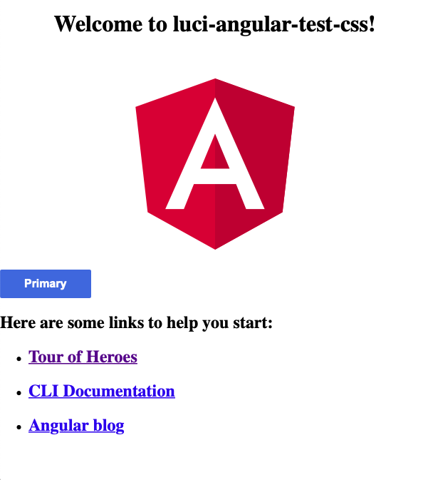 LUCI Installed in Angular