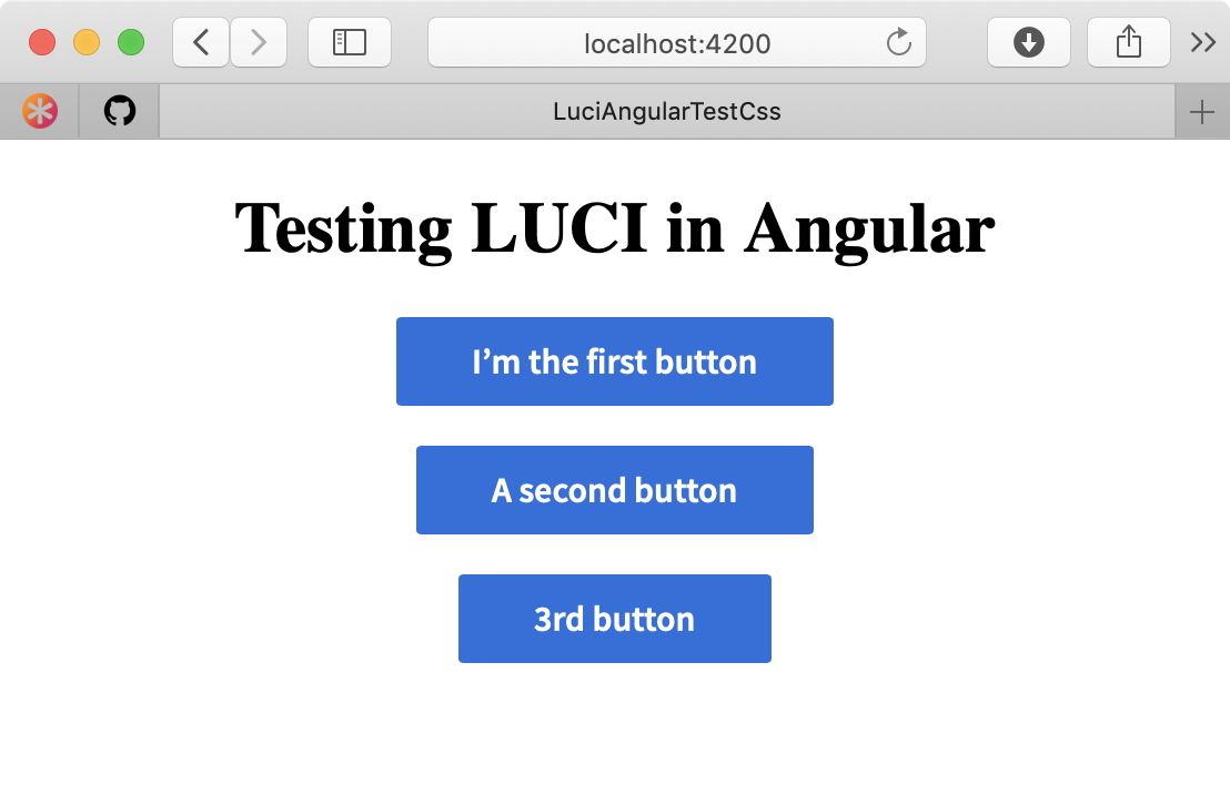 LUCI Angular Component Installed